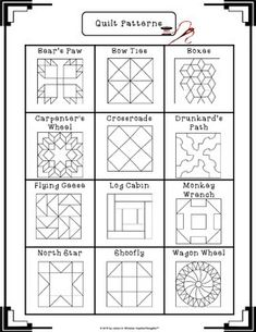 Freedom Quilt Pattern Research and Art Activity 2019 Freedom Quilt Pattern Research and Art Activity The post Freedom Quilt Pattern Research and Art Activity 2019 appeared first on Quilt Decor.Have a look at our content for a lot more that is related Quilt Square Patterns, Barn Quilt Patterns, Pattern Blocks, Square Quilt, Barn Quilt Designs, Quilting Designs, Fun Craft, Painted Barn Quilts, Barn Signs