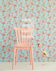 Eijffinger Script behang 347502 Flamingo http://www.behangwereld.nl/a-38618112/dieren-behang/eijffinger-script-behang-347502-flamingo/