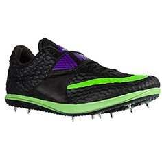 Nike Zoom HJ Elite High Jump Spikes Shoes Black Green Purple Size 45 Mens  55 Womens >>> Check out the image by visiting the link.