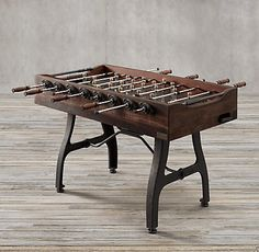 Vintage Industrial Foosball Table   Restoration Hardware