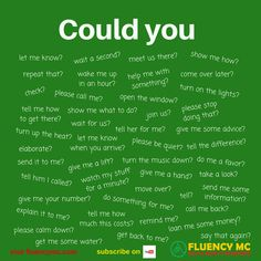 Phrases / Questions - Could you ...? Make your own sentence! Practice!