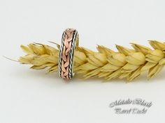 Obrączka srebrna w połączeniu z miedzią. www.facebook.com/... #metalart, #jewelery, #Tucki_Pawel