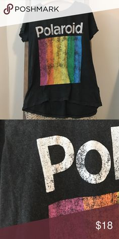 Polaroid shirt Soft, casual, and edgy Polaroid shirt. Looks great with army green pants and combat boots. Size S Pull&Bear Tops Tees - Short Sleeve