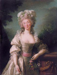 1782 Madame Du Barry    Portrait by Elisabeth Vigée LeBrun. The Corcoran Gallery of Art, Washington, D.C.    Jeanne Bécu, comtesse du Barry (19 August 1743 – 8 December 1793)