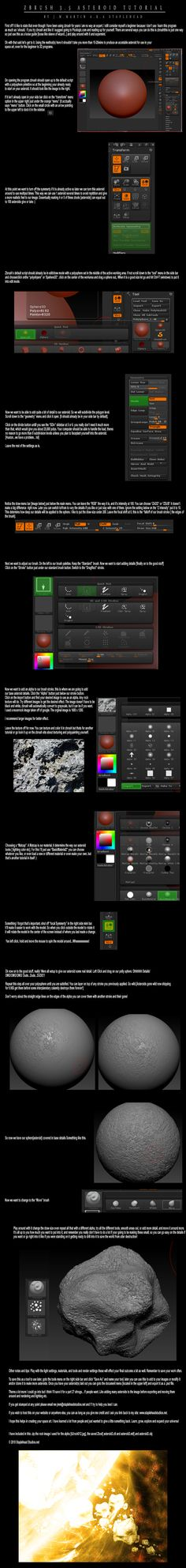 Asteroid Tutorial Zbrush 3.5 by ~StapleDroid on deviantART