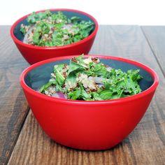 Kale Quinoa Salad With Lemon Garlic Tahini Dressing | Unprocessed People