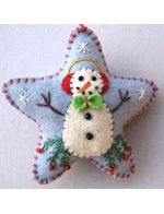 Star with snowman.  All kinds of 'star' ornaments on this website.  Really neat.