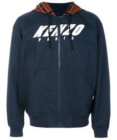 KENZO Kenzo Men's  Blue Cotton Outerwear Jacket. #kenzo #cloth #