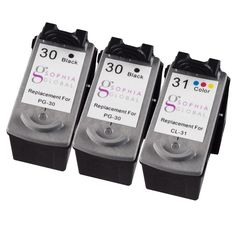 Refurbished Sophia Global Remanufactured Ink Cartridge Replacement for Canon PG-30 and CL-31