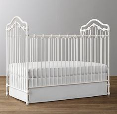 Grayson Iron Crib in Distressed White by Restoration Hardware Baby & Child Nursery Furniture, Nursery Room, Nursery Decor, Girl Nursery, Nursery Ideas, Furniture Ideas, Baby Room, Restoration Hardware Nursery, Antique Crib