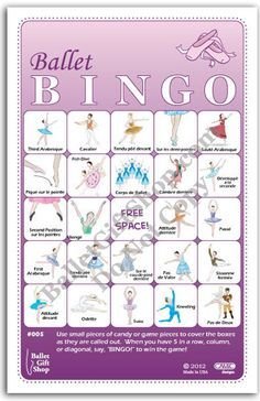 Learn/Teach Ballet Steps and Positions - Ballerina Birthday Games- so fun for birthday parties, slumber parties, or killing time backstage. #MadeinUSA
