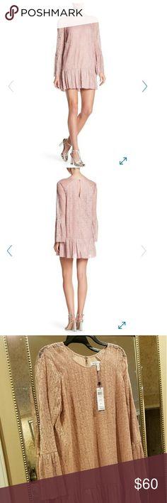 "BCBG Dress Smoke-Rose tiered lace A-line Dress.Bust 20"" Waist 20"" Length 35 (measurement laying flat) BCBGeneration Dresses Midi"