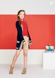 Make Justice your one-stop-shop for girls' school uniforms. Shop our selection of uniform styles that are functional & match her style. School Uniform Outfits, Uniform Ideas, School Uniforms, School Fashion, Kids Fashion, Chloe Grace Moretz Feet, Jayden Bartels, Future Clothes, School Looks