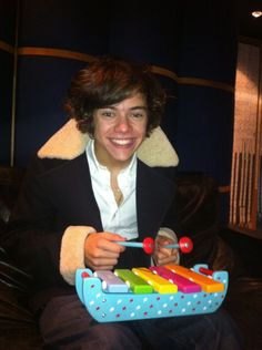 harry playing his xylophone