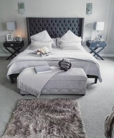 17 Amazing Master Bedroom Ideas You Are Dreaming Of. If you are looking for Master Bedroom Ideas You Are Dreaming Of You come to the right place. Cozy Bedroom, Home Decor Bedroom, Modern Bedroom, Bedroom Ideas, Stylish Bedroom, Design Bedroom, Bedroom Wall, Dream Rooms, Dream Bedroom