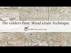 The Gilders Paste Wood Grain Technique with Polymer Clay