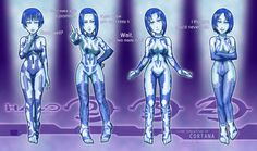 --------------------------------------- Halo (c) 343 Industries / Bungie --------------------------------------- The Evolution of Cortana Halo Cosplay, Cortana Cosplay, Halo Game, Halo 5, Video Games Funny, Funny Games, John 117, Master Chief And Cortana, Cortana Halo
