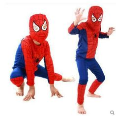 2017 children Red spiderman costume batman superman halloween costumes for kids superhero capes anime cosplay carnival costume