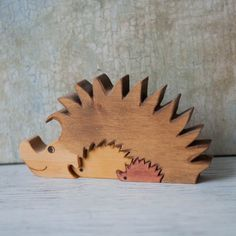 Wood Hedgehog Puzzle Wooden Handmade Toys Wooden Animals Natural Eco Friendly | eBay