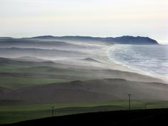 Beaches and mist along the western edge of the Point Reyes Peninsula, Marin County, California
