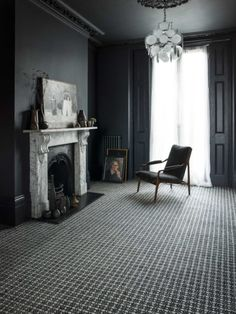 Crucial Trading Sisool SP304 Plaid Rich Black Carpet - grey interiors