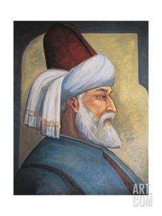 Portrait of Gialal Al-Din Rumi Giclee Print at Art.com