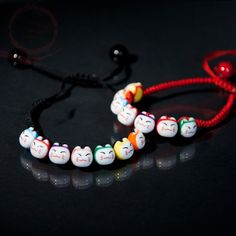 VU100 3 PCS Bracelet Mauvais Oeil Bracelet de Bonne Chance Bracelet Kabbalah pour Femmes Hommes Enfants