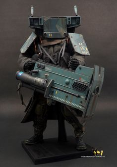 is a naval heavy laser gunner-drone fit for operations on shore or ship's deck. Cyberpunk, Robot Concept Art, Armor Concept, Character Concept, Character Art, Character Design, Sci Fi Armor, Sci Fi Characters, Character Costumes