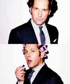 Paul Rudd...I've thought he was hot in a nerdy/ old guy way ever since he was her step-brother in clueless! I'm a sucker for nerdy, old guys!!!