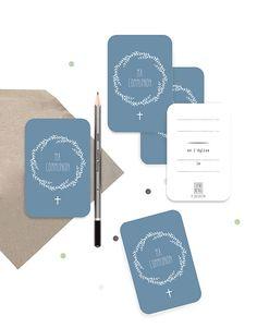 Lot de petites cartes – « Ma Communion » ©Catho Rétro – Bleu