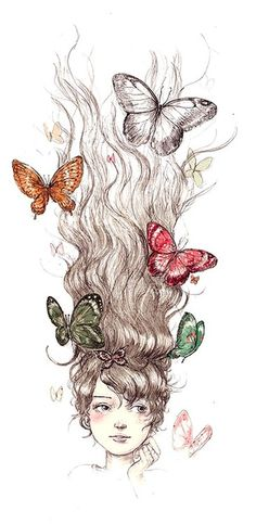 Butterflies in her hair www.mybutterflytestimony.com
