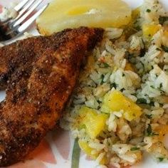 Caribbean Chicken with Pineapple-Cilantro Rice - Allrecipes.com