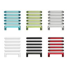 "SÄTTA handle, assorted colors Length: 4 1/4 "" Width: 1/2 "" Depth: 1 1/4 "" Length: 108 mm Width: 12 mm Depth: 31 mm"