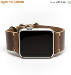 ON SALE Apple Watch Band Horween Leder Armband von von E3SupplyCo