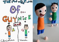 VERY cool idea ... make soft toys based on your kids or grandkids own art.