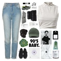 """☾ ade's 3k set challenge"" by thundxrstorms ❤ liked on Polyvore featuring Topshop, Dogeared, Ren-Wil, H&M, Origins, Calvin Klein, Christy, Paper Mate, Dot & Bo and Aesop"