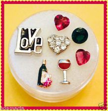 WINE LOVER charm set and ORIGAMI OWL Stone fits Floating Memory Lockets Charms