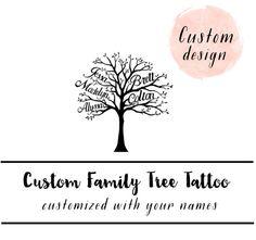 Temporary Tattoo Tree Family Tree Tattoo Custom par pepperink