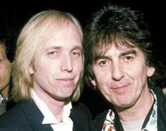 Tom with his friend and collaborator, the late George Harrison
