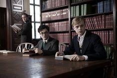Daniel Radcliffe - Allen Ginsberg, Dane DeHaan - Lucien Carr, & Ben Foster - William S. Burroughs. Kill your Darlings.