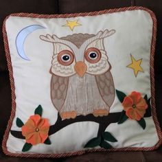 Applique Owl Cushion 2