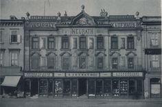 FOTO: Nostalgické zábery na dnes už neexistujúce železiarstvo Neurath pri Kamennom námestí   História   Bratislavské noviny Bratislava, Store Fronts, Arches, Louvre, Building, Travel, Retro, Viajes, Buildings