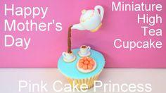 Mother's Day Gravity Defying Miniature Tea Set & Macarons Cupcakes - How...