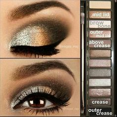 Absolutely LOVE this eye make-up! I just really love to do other peoples eye make-up! Gold Eye Makeup, Prom Makeup, Skin Makeup, Homecoming Makeup, Makeup Contouring, Eyeshadow Makeup, Eyeshadow Palette, Applying Makeup, Eye Palette