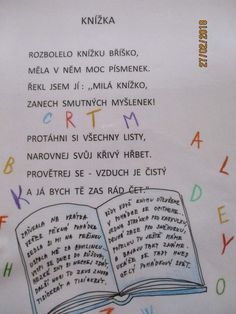 Kniha je můj kamarád – zabickyskolka – album na Rajčeti Motto, Montessori, Alphabet, Kindergarten, Language, Bullet Journal, Jar, Education, Reading