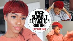 Wash, Blow Dry and Flat Iron Routine for Short Natural Hair (TWA/Pixie Cut)! [Video] - https://blackhairinformation.com/video-gallery/wash-blow-dry-flat-iron-routine-short-natural-hair-twapixie-cut-video/