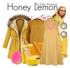 """Honey Lemon"" by sofiaamorena ❤ liked on Polyvore featuring Ray-Ban, River Island, Brooks Brothers, Neiman Marcus, Glamorous, Steve Madden, Kendra Scott, BaubleBar, women's clothing and women's fashion"