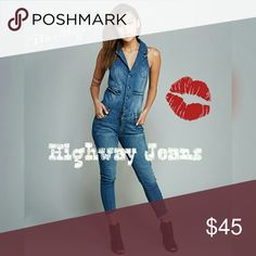 🎉SALE🎉 SEXY Denim Jean Jumper💋 Smoking hot jumpsuit is made to make heads turn. Patch pocket on chest, 2 non-functional pockets at waist and 2 patch pockets on rear. MODELED ACTUAL JUMPSUIT THOUGH I DON'T HAVE ENOUGH GOODS TO FILL IT OUT  - I used clips to make it fit closer. Measurements upon request.98% cotton, 2% spandex. Smoke/pet-free home. NO TRADES✨20% discount on 2 or more items. Reasonable offers accepted - please see offers chart.✨  🍁Thanks for browsing my closet!🍁 Highway…