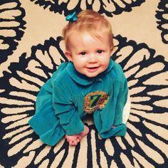 Charley is 7 months! Sitting up loves to be the center of attention claps at herself and saying da da da da! #babyBARRONess  #charleylizabethbarron