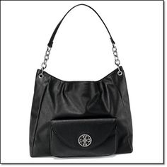 Avon's exclusive Signature Collection Chain-Linked Hobo Luxe leatherlike shoulder bag with silvertone hardware.~ http://jgoertzen.avonrepresentative.com/